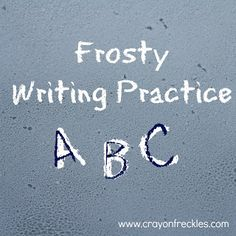 crayonfreckles: frosty writing practice #preschool #alphabet #ECED