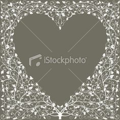 Leaves on grey background with heart shaped content area.