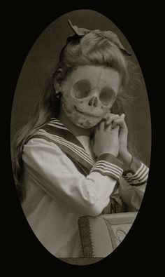 Altered photo - young skelly