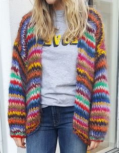 Floryday - Beste Deals für das neueste Damenmode-Online-Shopping - New Ideas Mohair Cardigan, Sweater Coats, Sweaters, Cardigans, Knitting Wool, Knitting Patterns, Quick Knits, Knit Jacket, Diy Crochet