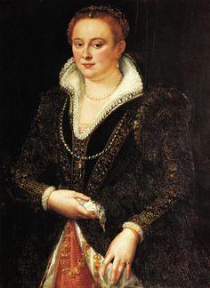 Allori Alessandro  Ritratto di Bianca Cappello, c. 1587  Fabulous sleeves