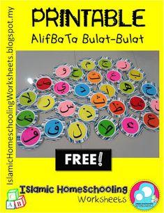 FREE PRINTABLE ALIF BA TA BULAT-Bulat ~ Islamic Homeschooling Worksheets