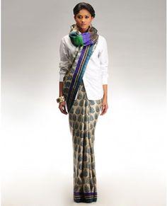 Modern new way to wear a sari!