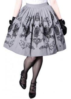 Crows & Lanterns Gothic Lolita Skirt