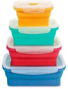Kelsey Nixon Essentials 8-piece Collapsible Storage Set with Recipes
