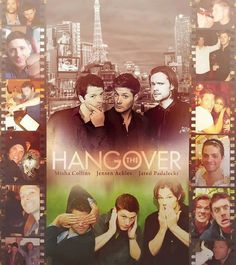 The only Hangover movie I'd be willing to see! Supernatural Poster, Supernatural Funny, Jensen Ackles Jared Padalecki, Jensen And Misha, Winchester Brothers, Geek Out, Misha Collins, E Cards, Good Looking Men
