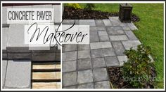 Using CHEAP concrete block , you can create the look of stone pavers!