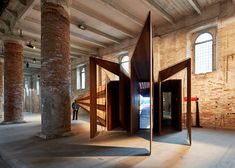 """""""Somewhere Other"""" by John Wardle Architects Revealed at Venice Architecture Biennale Arm Architecture, Architecture Awards, Sustainable Architecture, John Wardle, Portal Design, Timber Structure, Street House, Venice Biennale, Entrance Gates"""