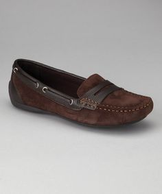 Sophisticated with street style, these moccasins are crafted from smooth suede. Pebbled leather makes up the lace accents and penny loafer details that cross the vamp.Leather / suede upperRubber soleImported