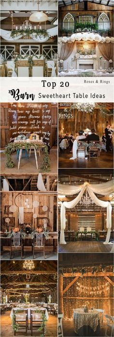 rustic country wedding ideas - barn wedding swetheart table ideas #weddings #countryweddings #barnweddings #barn #weddingreception ❤️ http://www.rosesandrings.com/barn-sweetheart-table-decor-ideas/ #rusticweddingdecorations #rusticweddings #weddingideas