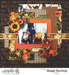 Fall Layout, An Eerie Tale, Maggi Harding, Graphic 45