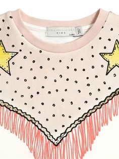 STELLA MCCARTNEY KIDS - COWBOY PRINTED ORGANIC COTTON DRESS - OFF WHITE/PINK