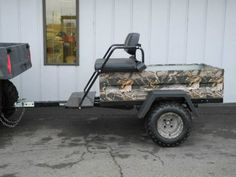 Need to haul your hunting buddies to your special hunting spot, but your UTV… Off Road Trailer, Bike Trailer, Hunting Humor, Hunting Gear, Passengers Trailer, Hunting Trailer, Homemade Trailer, Bike Cart, Atv Attachments