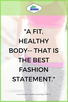 Don't #disregard your #health! Your #body is your most #precious #asset so, take #care of it. www.back-n-action.com/aze-rollers/