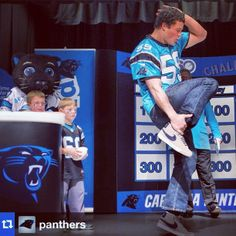 panthers: Springfield Elementary. Luke Kuechly. DANCE-OFF!! #nflPlay60
