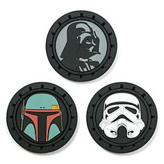 Personalize your car's cup holders with a little bit of Star Wars. Vader, Boba, and a Stormtrooper are waiting to keep your car clean!