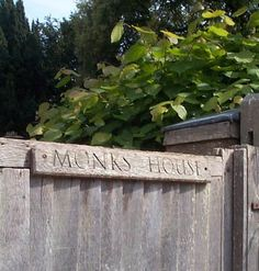 Monks House sign