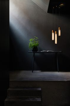 Basalt: A Modular Lighting System by Tala Inspired by Rock Formations in Ireland - Design Milk Ceiling Rose, Ceiling Lamp, Ceiling Lights, Ceiling Light Design, Lighting Design, Interior Photo, Interior Design, Dark Interiors, Space Architecture