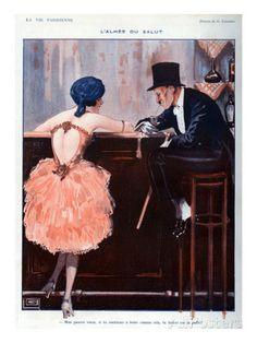 Georges Léonnec (1881 - 1940). La Vie Parisienne, 1920s. [Pinned 13-i-2015]