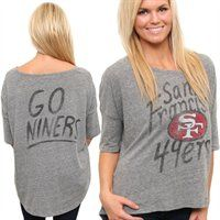 San Francisco 49ers Ladies Premium Game Day Tri-Blend T-Shirt #GoNiners  @Fanatics #FanaticsWishList 49ers Shirts, 49ers Shop, 49ers Outfit, Game Day Shirts, Nfl San Francisco, Gear Shop, Piece Of Clothing, San Fransisco, Junk Food