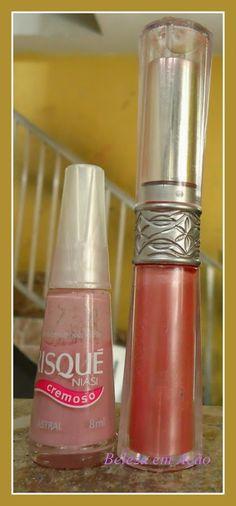 BELEZA EM AÇÃO: Boca & Unhas rosa claro