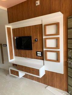 Tv Cupboard Design, Bedroom Cupboard Designs, Drawing Room Ceiling Design, House Ceiling Design, Living Room Wall Units, Living Room Tv Unit Designs, Tv Unit Interior Design, Interior Work, Lcd Wall Design