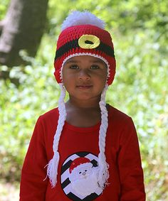 4d59800643c Loving this Red  amp  Black Santa Buckle Earflap Beanie on  zulily!   zulilyfinds