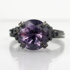 Dark Amethyst Sterling Silver Ring___ I really want this!