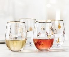 Festivity Old Fashioned Glasses, Set of 4 Holiday Gift Guide, Holiday Gifts, Wine Glass, Drinking, Glasses, Tableware, Color, Style, Xmas Gifts