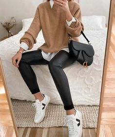 Casual Winter Outfits, Winter Fashion Outfits, Classy Outfits, Look Fashion, Stylish Outfits, Dress Casual, Winter Dresses, Fashion Fall, Fashion Women