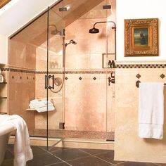 """Traditional Bathroom """"sloped Ceiling"""" Design, Pictures, Remodel, Decor and Ideas - page 4"""
