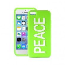 Housse iPhone 5C Puro Silicone PEACE - Verde Fluorescent  16,99 €