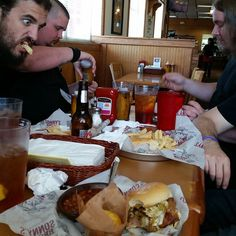 Possessor getting our Crucial BBQ on at Sonny's BBQ in Georgia. #possessor #possessormetal #tour #crucialbbq #sonnysbbq