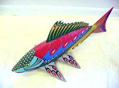 Folk Art Carvings Oaxaca Mexico Fish