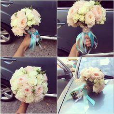 """Нежный букет невесты для свадьбы в стиле """"Тиффани"""""""