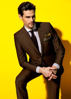 Slim Fit Brown Men Suit #brownsuit