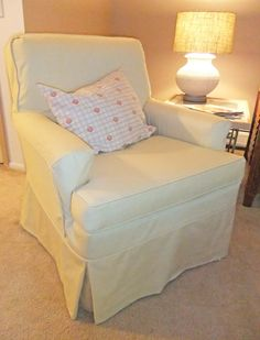 Cotton twill slipcover with a tailored fit perfect for this classic, boxy chair.