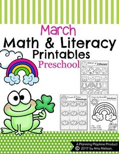 Could you use some easy, ready to use March Preschool Worksheets? These are no prep, with adorable spring and St. Patrick's Day pictures.