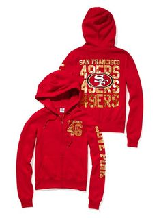 "SO upset that they don't sell these on the VS website... ""in stores only"" preeeeetty sure I wont be able to find 49er anything in Dallas :*-("