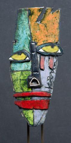 μπορώ να το φτιάξω με πη λό κατασκευής Masks Art, Clay Masks, Kimmy Cantrell, Ceramic Sculpture Figurative, Art Visage, Afrique Art, Plastic Art, Abstract Faces, Mural Wall Art