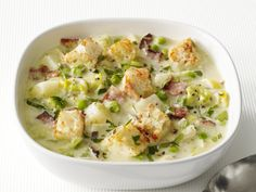 Potato-Leek Soup With Bacon from FoodNetwork.com
