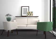 archventil_interior_design_flat-(7)  #interiordesign #interior #residential #green #white #grey #sketch #watercolor #rendering