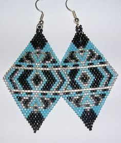 Mosaic+Diamond+Earrings+by+shamlynn+on+Etsy,+$28.00