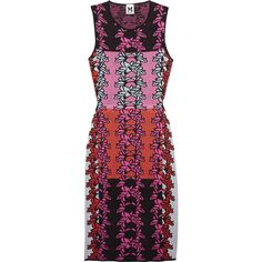 M Missoni Cutout knitted cotton-blend dress