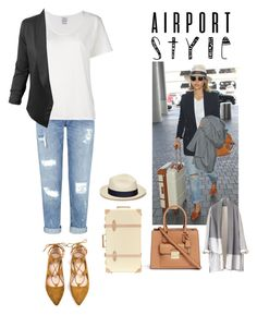 """""""Untitled #342"""" by bbelk ❤ liked on Polyvore featuring Miss Selfridge, Visvim, LE3NO, Globe-Trotter, Michael Kors and Artesano"""