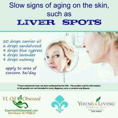 Oils for liver spot