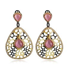 Vintage accessories african Earrings black and gold plated with Cubic zircon big drop Earrings fashion jewelry free shipment