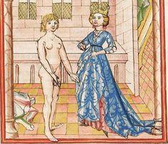 Elisabeth <Nassau-Saarbrücken, Gräfin, 1393-1456> Herpin — Stuttgart (?) - Werkstatt Ludwig Henfflin, um 1470 Cod. Pal. germ. 152 Folio 34v