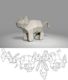 pepakura cat 2