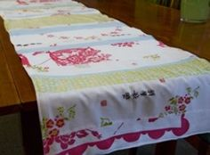 Upcycled Table Runner